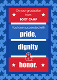 51661N Boot Camp Graduation Congratulations Red, White, Blue Stripes Stars