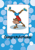 51680 Boy Gymnastics Monkey Congratulations