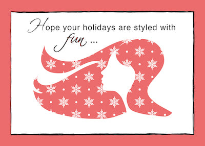 52326 Christmas Card TO Hair Dresser, Sylist