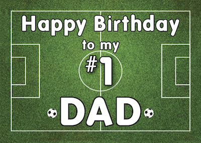 52414G Dad Soccer Birthday Grass Field
