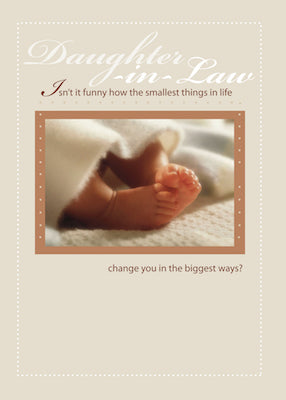 4099E Daughter-in-Law Congratulations New Baby Feet