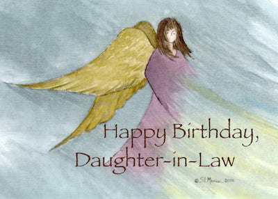 3852D Daughter-in-Law Angel Birthday Blue