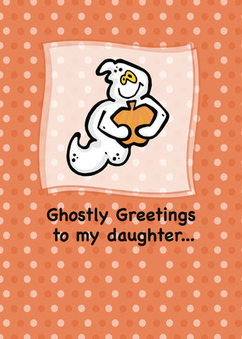 2804A Daughter, Ghostly Greetings Halloween