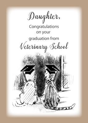 4333G Daughter, Congratulations on Veterinary Graduation Dog, Cat