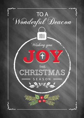 52487 Deacon, Joy at Christmas, Chalkboard - Look