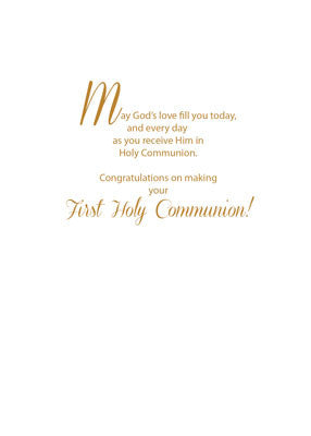 52031 First Communion Gold Starburst with Wheat