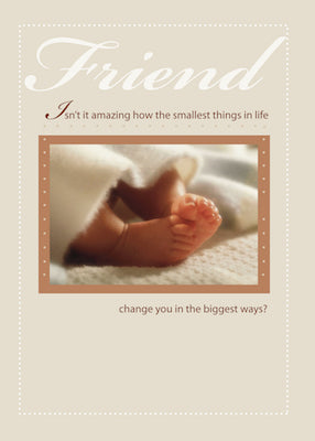 4099G Friend Congratulations New Baby Feet