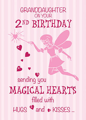 52369B Granddaughter 2nd Birthday Magical Fairy Pink