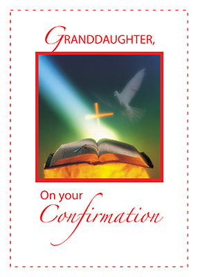 2916D Granddaughter Confirmation Dove, Bible, Cross