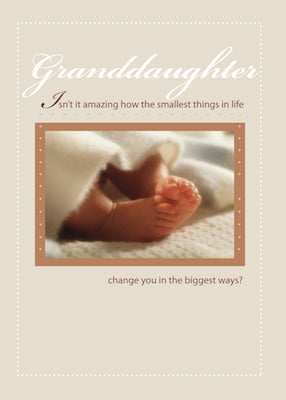 4099N Granddaughter Congratulations New Baby Feet