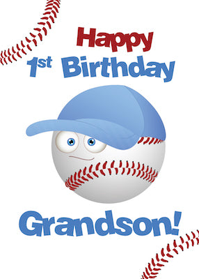 52412 Grandson 1st Birthday, Baseball Theme