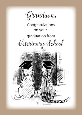 4333L Grandson, Congratulations on Veterinary Graduation Dog, Cat