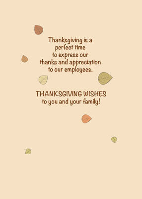 52002E Happy Thanksgiving to Employees Dots and Tree
