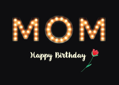 52373F From All of Us Children, Mom Birthday Marquee Light Bulb Letters