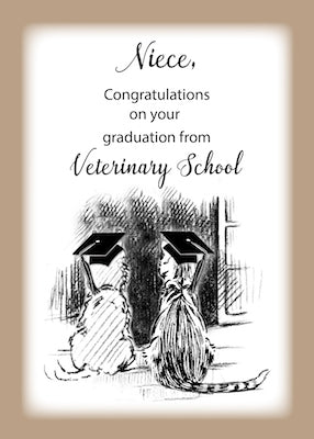 4333H Niece, Congratulations on Veterinary Graduation Dog, Cat