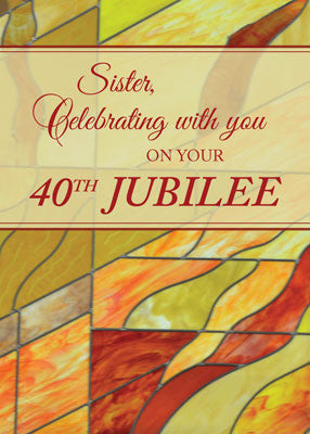 52476 40th Jubilee, Nun, Stained Glass-Look