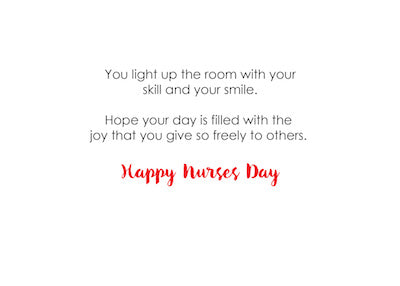 52373C Nurse, Happy Nurses Day, Light Bulb Letters
