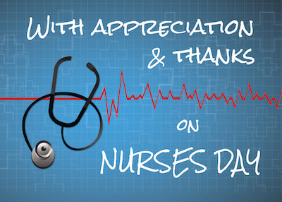 52380AC Nurses Day Thank You Stethoscope on Blue