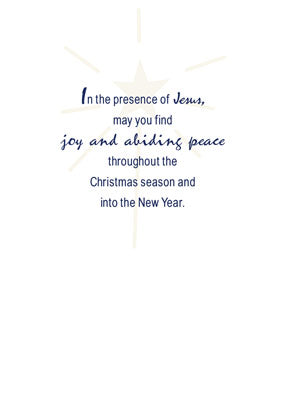 52460 One Solitary Life Religious Christmas Card Dark Blue with Star & Manger