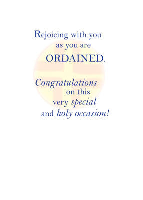 51672 Ordination Congratulations, Blue