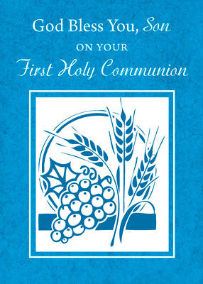 51883 Son First Communion Card Blue