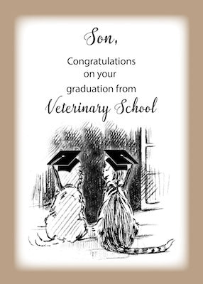 4333M Son, Congratulations on Veterinary Graduation Dog, Cat