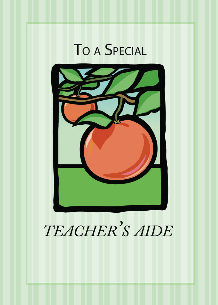 3495A Teacher Aide Thank You Apple