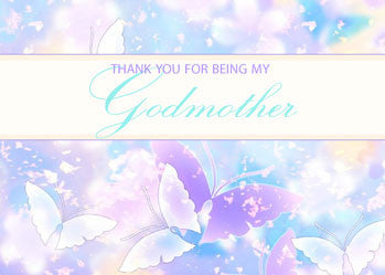 51976A Godmother Thank You Pastel Butterflies