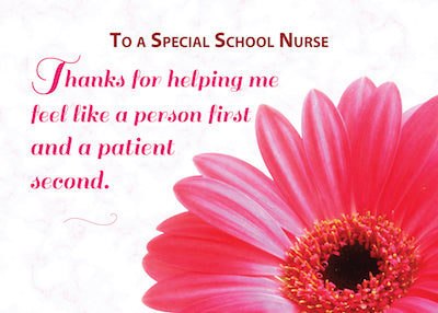 52411A Thanks School Nurse for Kindness, Pink Daisy