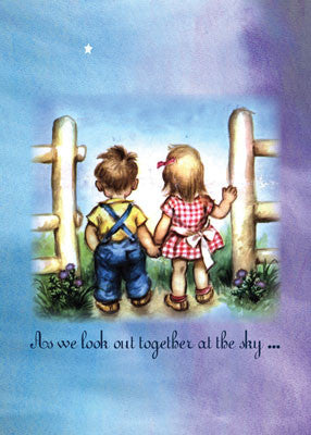 51876 Love Vintage Boy, Girl Holding Hands