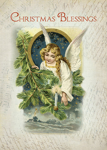 52100 Vintage Christmas Religious Angel