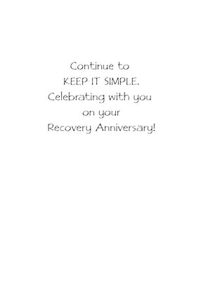 2782A 1 Year 12 Step Recovery Anniversary Butterfly
