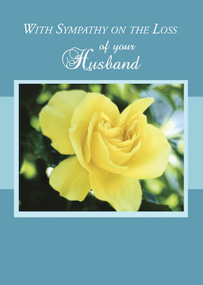 4370C Loss of Husband, Sympathy Yellow Rose