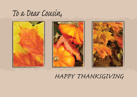 2802C Cousin Religious Three Leaves Thanksgiving