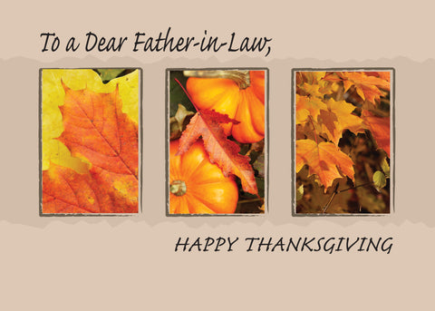 2802E Father-in-Law Religious Three Leaves Thanksgiving