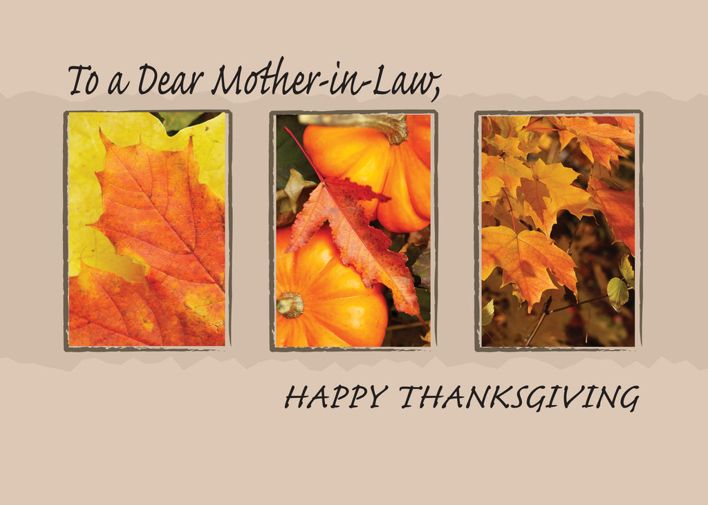 2802F Mother-in-Law Religious Three Leaves Thanksgiving