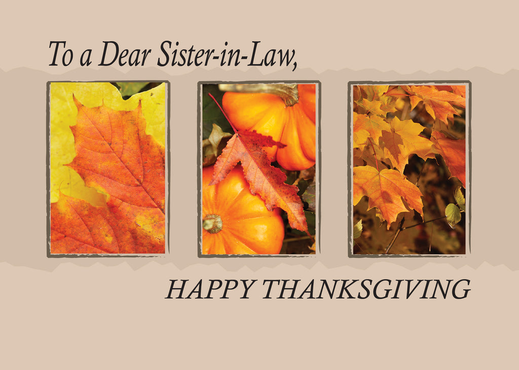 2802H Sister-in-Law Religious Three Leaves Thanksgiving