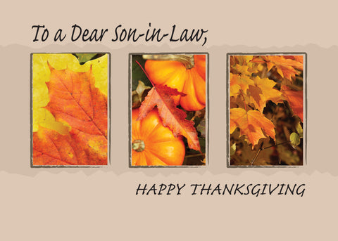 2802J Son-in-Law Religious Three Leaves Thanksgiving