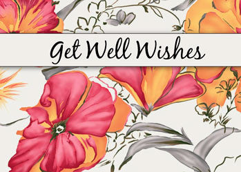 51640 Get Well Watercolor Flowers