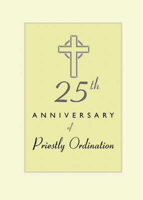 4468 25th Anniversary of Priestly Embossed Cross