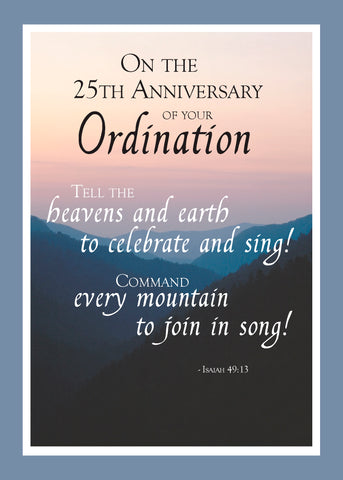 2687F 25th Anniversary of Ordination Mountains