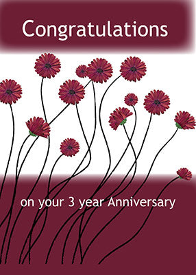 4042B 3 Year Anniversary 12 Step Recovery Flowers
