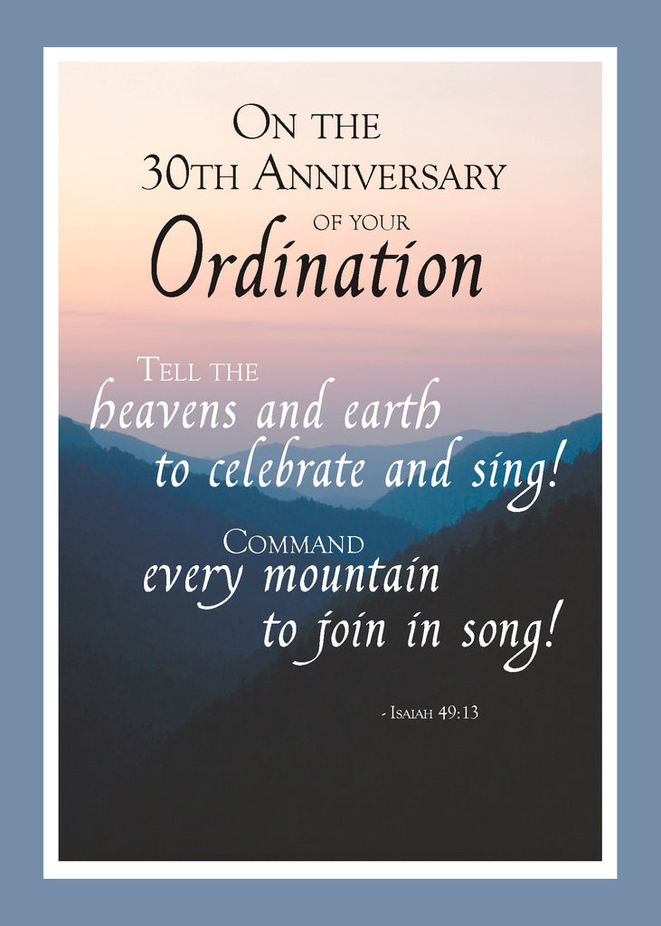 2687G 30th Anniversary of Ordination Mountains