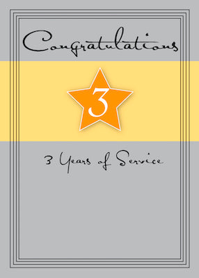 3989A 3 Years Employee Anniversary, Service Star