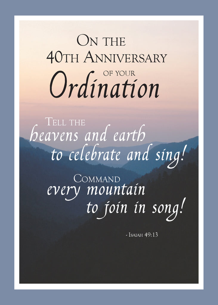 2687H 40th Anniversary of Ordination Mountains