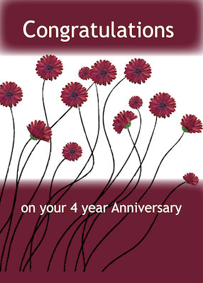 4042C 4 Year Anniversary 12 Step Recovery Flowers