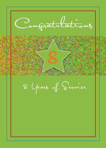 3988B 8 Years Employee Anniversary, Service Star