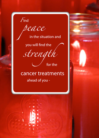 4106B Cancer Suport Religious Encouragement Peace Red Candles
