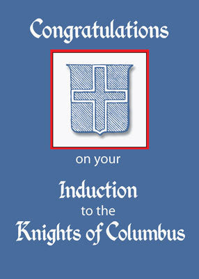 51790 Knights of Columbus Induction Congratulations, Blue