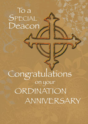 4455 Deacon Ordination Anniversary Cross